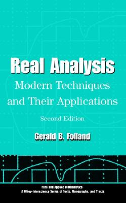 Real Analysis By Folland, Gerald B.